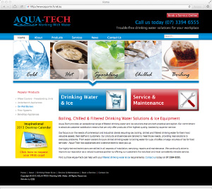 Aqua-tech's new look home page